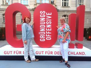 Sue Appleton & Martina Teichelmann, Juni 2019 in Berlin
